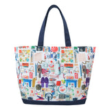'Paraphernalia' zipped canvas tote bag (large)