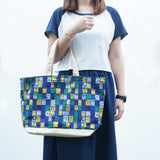 'Letterbox' canvas tote bag (large)