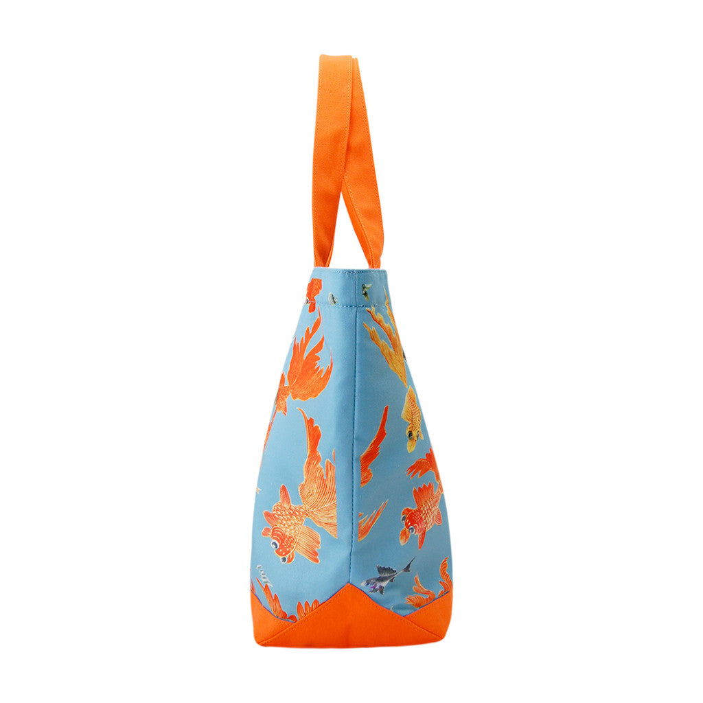'Goldfish' zipped canvas tote bag (large)