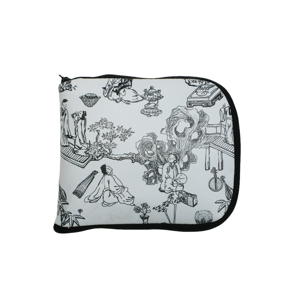 'Hong Kong Toile de Jouy' foldable recyclable shopping bag