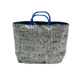 'Newspaper' zipped signature mini tote