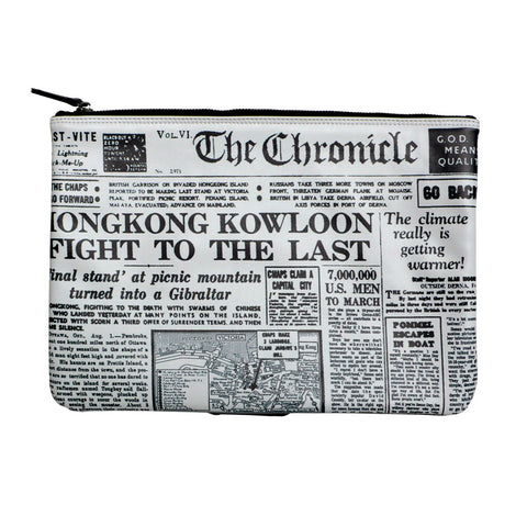 'English Newspaper' clutch portfolio