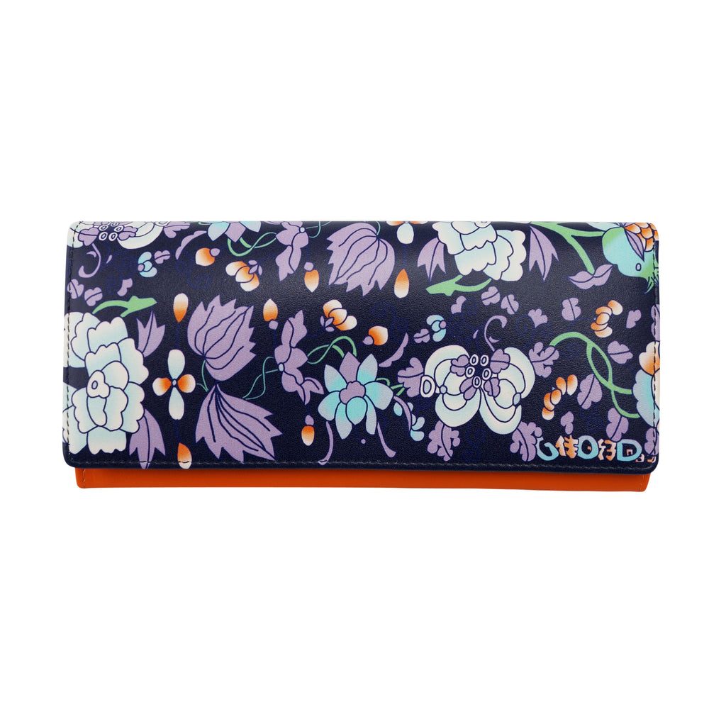 'Floral' long leather wallet | Goods of Desire