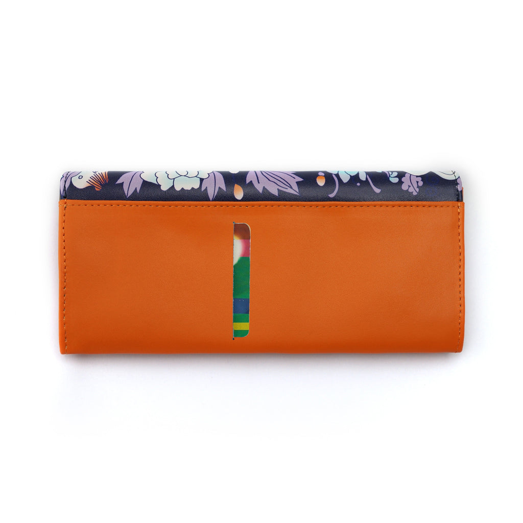 'Forest of Wealth' long leather wallet