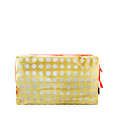 'Rattan' red and gold see-through bag (cosmetics case)