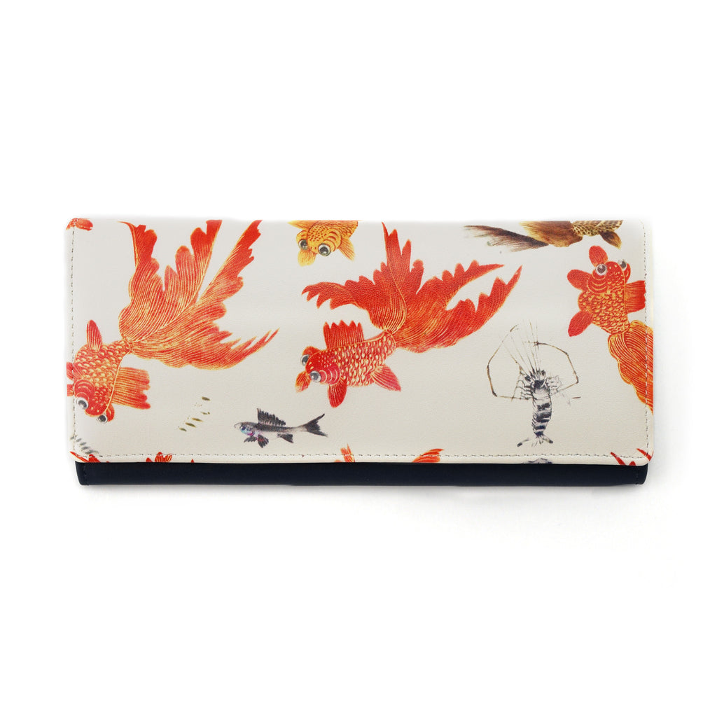 'Goldfish' long leather wallet