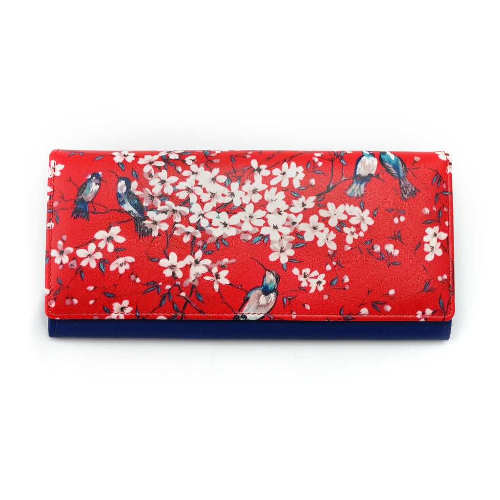 'Cherry Blossom' long leather wallet - Goods of Desire