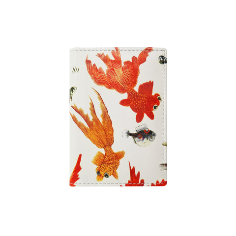 'Goldfish' leather card case