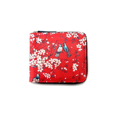 'Red bird' zip around wallet | goods of desire