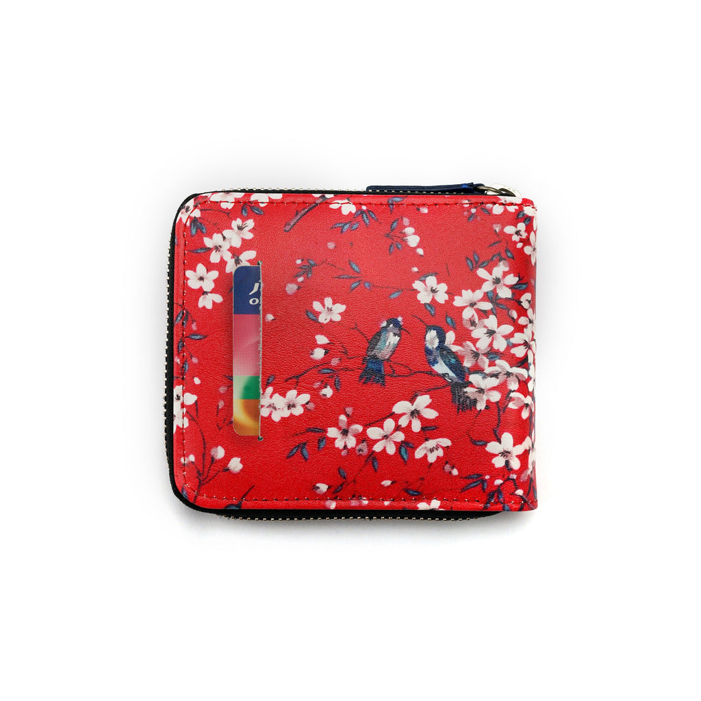 'Cherry Blossom' zip-around wallet - Goods of Desire