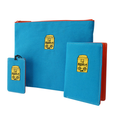 'Letterbox' embroidery travel set (Blue)| Goods of Desire