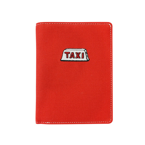 'Taxi' embroidery passport holder (Red) | Goods of Desire
