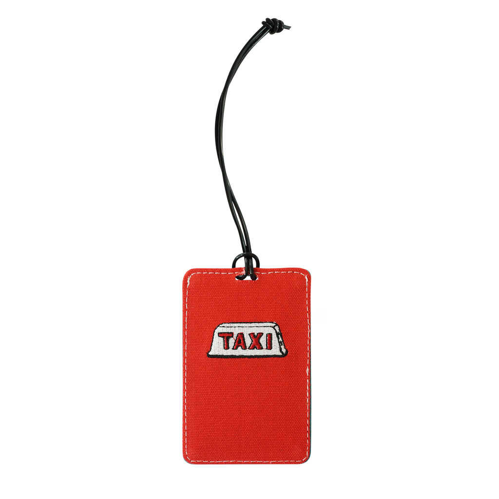 'Taxi' embroidery luggage tag