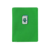 'Mahjong' embroidery passport holder (green) | Goods of Desire