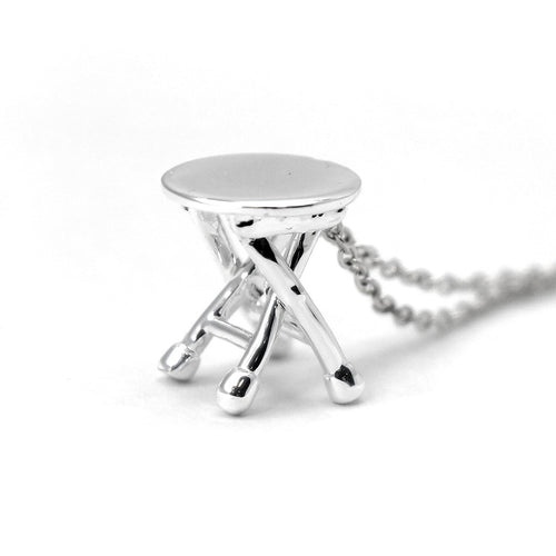 HK Charm with necklace - 'Stool' pendant
