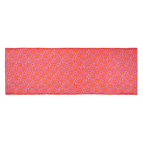 'Double Happiness' cotton scarf (fuschia and orange)