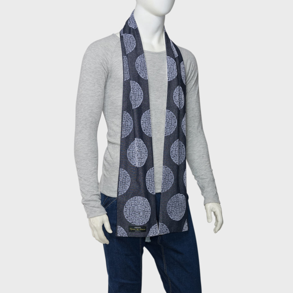 men chinese blue and white scarf goods of desire
