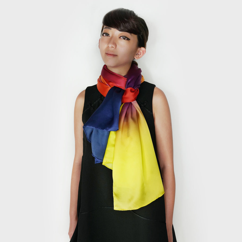 'Double Happiness' silk scarf