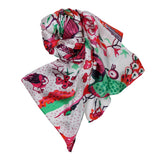 'The Conference of the Birds' silk scarf