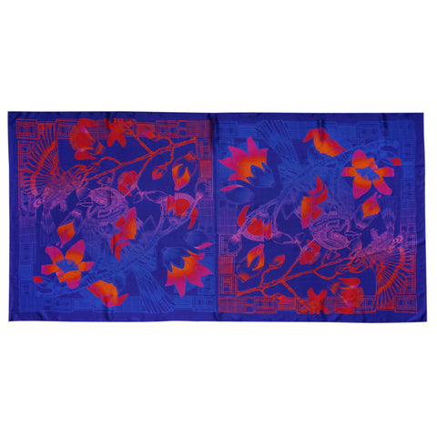 'Tree Sparrows' silk scarf