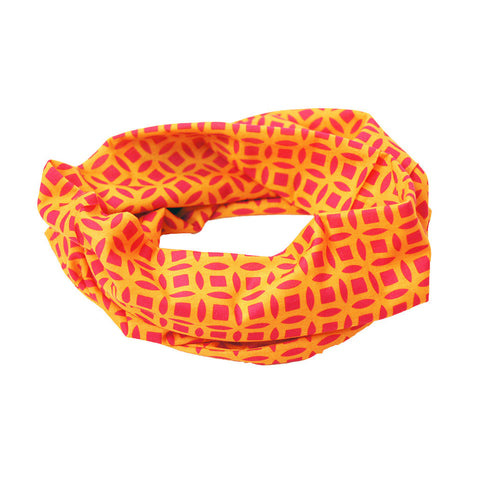 'Chinese Coins' tube wrap (orange and fuschia) - Goods of Desire