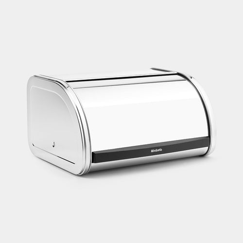 Roll Top Bread Bin, Brilliant Steel by Brabantia
