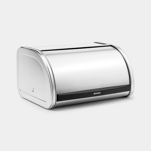 Roll Top Bread Bin, Matt Steel by Brabantia
