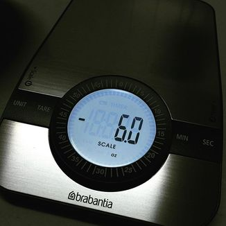 Digital Kitchen Scales 1-5kg, Matt Steel by Brabantia