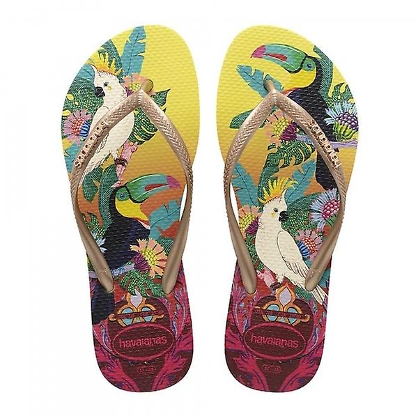 Havaianas Slim Tropical, Lemon Yellow