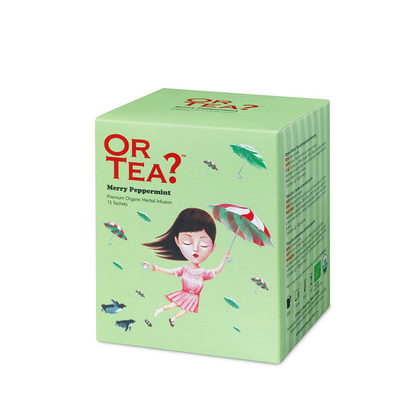 Or Tea? Merry Peppermint | Herbal Peppermint Infusion Tea Sachets
