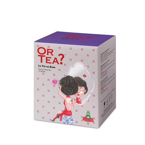Or Tea? La Vie en Rose | Premium Rose and Black Tea Sachets