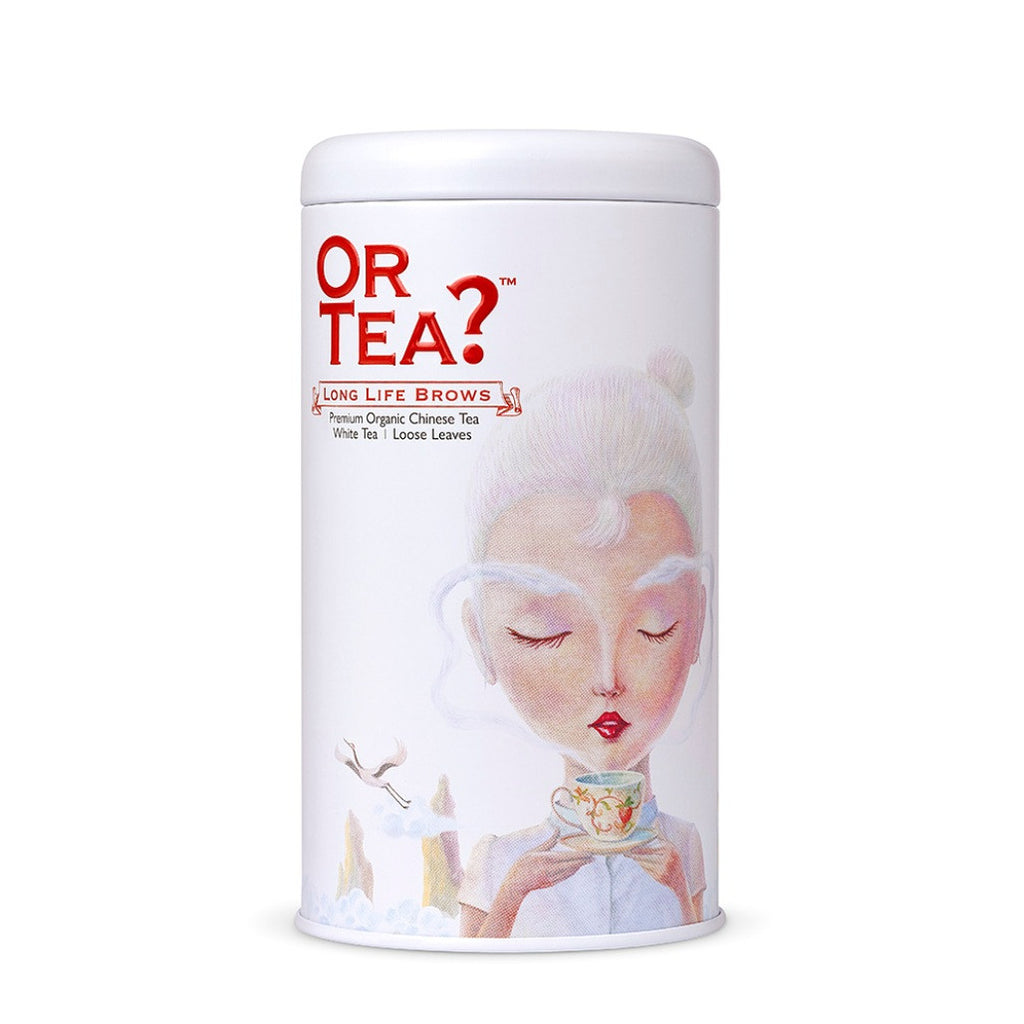 OR TEA C Tin Canister Long Life Brows