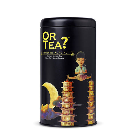 OR TEA C Tin Canister Towering Kung Fu