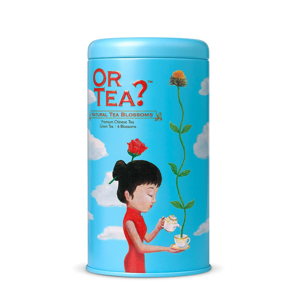 OR TEA C Tin Canister Natural Tea Blossoms
