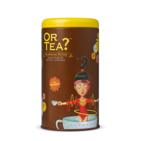 OR TEA C Tin Canister Slimming Pu'er