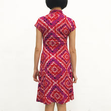 Load image into Gallery viewer, 'Red Diamond' Printed Qipao Dress