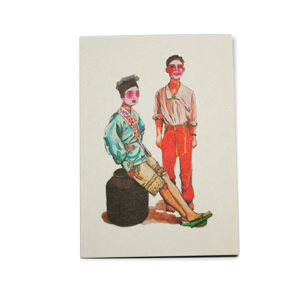 Opera Singers Water Color by Douglas Young' greeting card