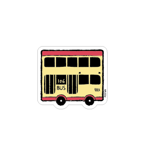 Hong Kong Bus Magnet