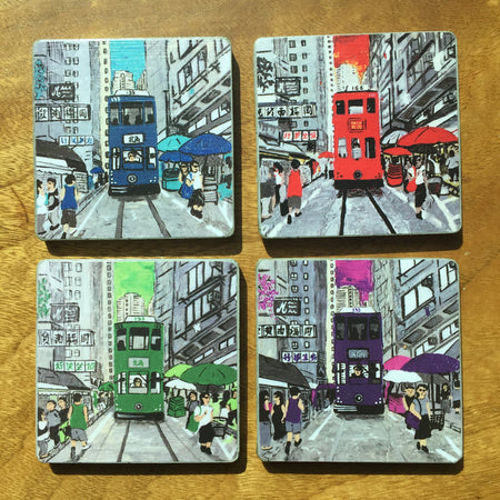 'Cheers!' Coaster Set of 4