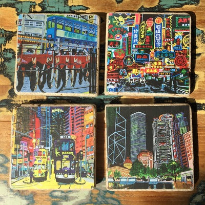 diFV-art HK Print Coaster set