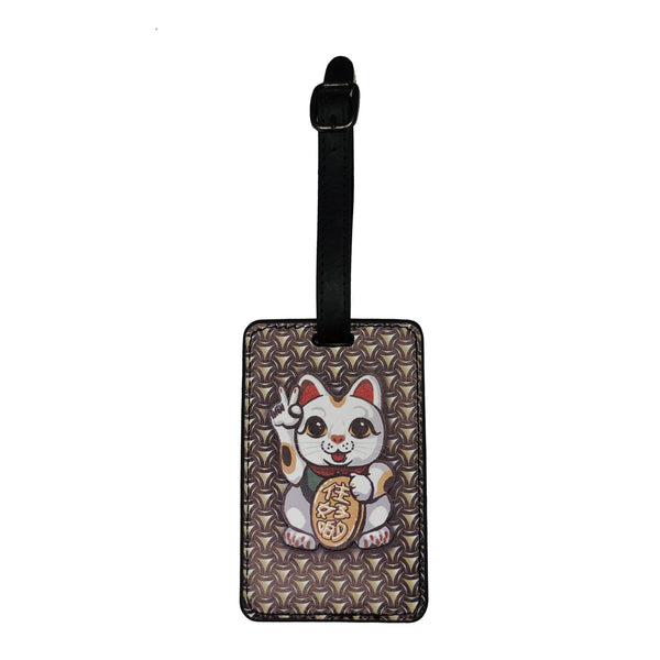 'Lucky Cat Armour' luggage tag