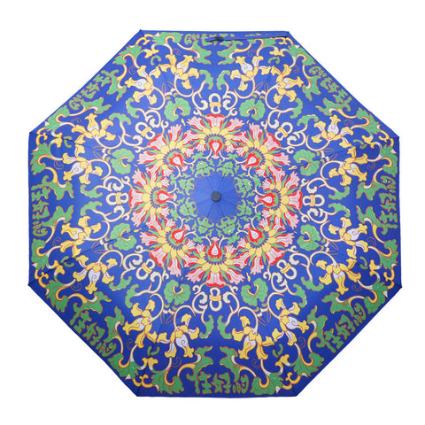 'Blue Lotus' folding umbrella