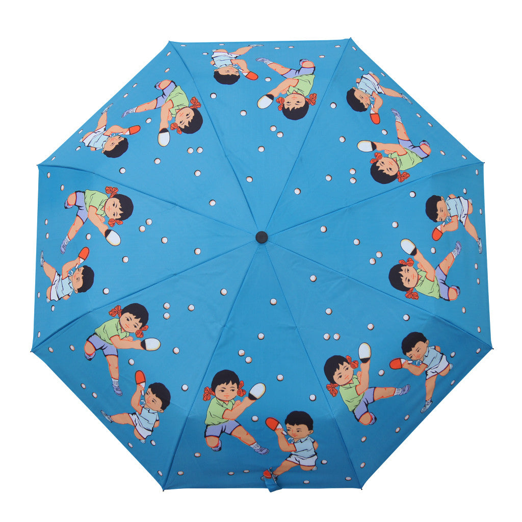 'Ping Pong' folding umbrella