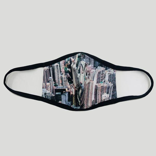 Pre-order 'Buildings' Fabric Face Mask, Wide Strap