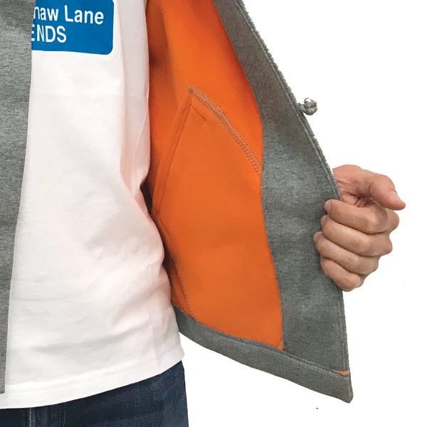 Chinese Fleece Lining Jacket, Grey (Orange)