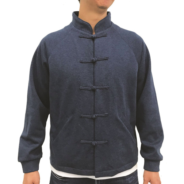 Chinese Fleece Lining Jacket, Blue (Black)
