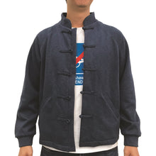 Load image into Gallery viewer, Chinese Fleece Lining Jacket, Blue (Black)