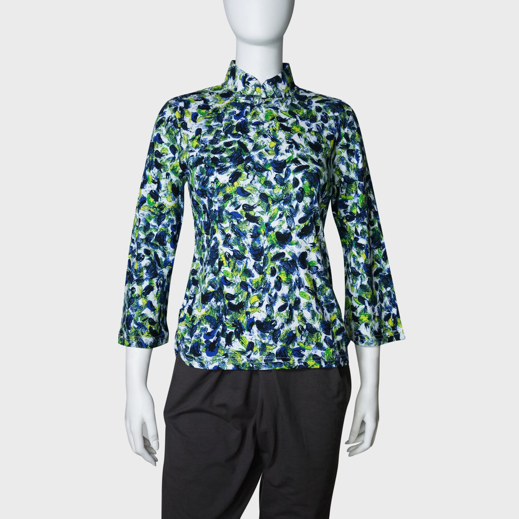 Jersey Mui Jai top (Navy/floral) | Goods of desire