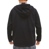 Chinese Marble Wash Hoodie, Dark Denim