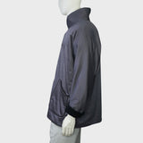 High Collar Chinese Coat with fleece trim (Grey)